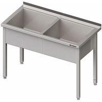 Stalgast Stół z basenem dwukomorowym 1200x600x850 mm | , 981376120