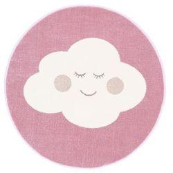 Dywan okrągły Soft Cloud 100 cm różowy