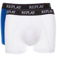bokserki 2-pak niebieski biały l marki Replay