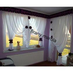 Marola 307 urocza firanka balkonowa z lambrekinem