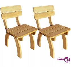 vidaXL Krzesła ogrodowe 2 szt Drewno sosnowe