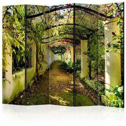 Parawan do mieszkania 5-częściowy - Romantyczny ogród II 225 szer. 172 wys.