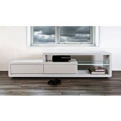 Stolik tv screen illuminato 180 cm, 2 szuflady, śnieżnobiały-eran (h000015988) marki Actona company