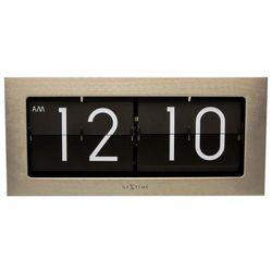 Nextime - zegar stojący big flip - srebrny