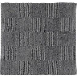 Cawo Dywanik łazienkowy szachownica 60 x 60 cm antracytowy tkany ręcznie