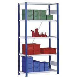 Magazynowy regał wtykowy, stojak regałowy, niebieski, wys. x szer. 2000x1000 mm,
