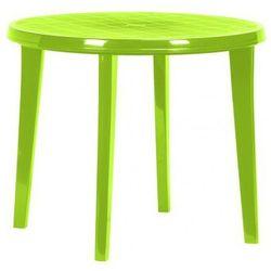 Okrągły stół z tworzywa sztucznego LISA - light green