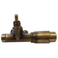 602100078 Zestaw: przyłącze jednootworowe proste antyczny mosiądz + głowica 6002 00013 - produ
