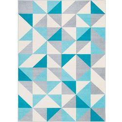 Agnella Dywan funky top super trójkąty błękit 200x280