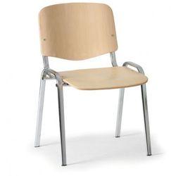 B2b partner Drewniane krzesło iso, buk, kolor konstrucji chrom, nośność 120 kg