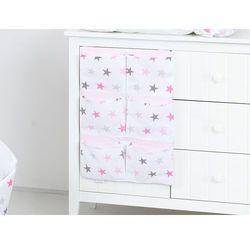 przybornik organizer na łóżeczko gwiazdki szare i różowe d marki Mamo-tato
