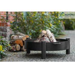 Palenisko ogrodowe ze stali czarnej bez pokrywy średnica 60 cm marki Korono