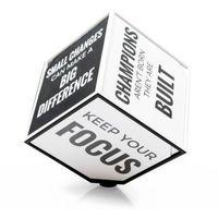 Gadget factory Motivation cube - kostka motywacyjna (en) - czarno-biały (5906660864578)