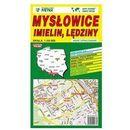 Mysłowice Imielin Lędziny mapa samochodowa 1:20 000 - Wydawnictwo Kartograficzne
