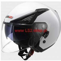 KASK LS2 OF586 BISHOP SOLID WHITE - Blenda ! - produkt z kategorii- kaski motocyklowe