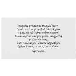 Wkładki do zaproszeń ślubnych, biały, 1op.