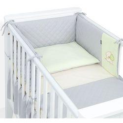 MAMO-TATO 3-el dwustronna pościel pikowana dla niemowląt 90x120 Szary / jasny zielony