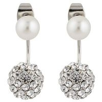 sweet deluxe CALIGARI Kolczyki silver/crystal/pearl