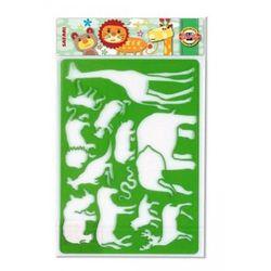 Szablon Zwierzęta Duży Safari oferta ze sklepu markery.pl - artykuły biurowe