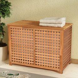vidaXL Kosz na pranie z drewna orzechowego 89x46x67 cm (8718475994022)