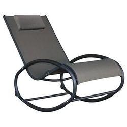 Fotel bujany, czarno-szary waver1 marki La siesta