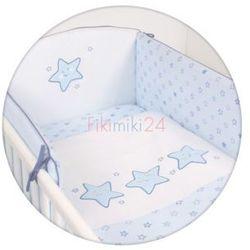 Ceba baby Ceba pościel bawełniana c-3 haft gwiazdki niebieskie