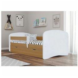 Łóżko dla dziecka z barierką happy 2x 70x140 - buk marki Producent: elior