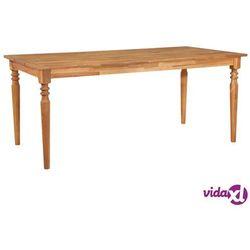 Vidaxl ogrodowy stół jadalniany, 180x90x75 cm, lite drewno akacjowe (8719883561509)