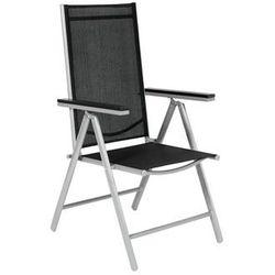 Krzesło ogrodowe aluminiowe MODENA - Czarne, kup u jednego z partnerów