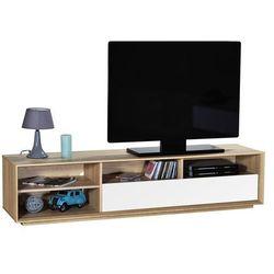 Stolik pod telewizor norway, biało - naturalny, 181x42 cm - 15sn9838 marki Sciae