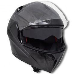 Czarny kask na motor z podwójną szybą (XL) - sprawdź w VidaXL