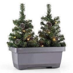 Blumfeldt Santaville szyszki jodłowe skrzynka balkonowa ozdoba świąteczna LED