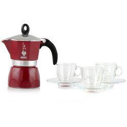 Kawiarka do espresso alum dama na 3filiż srebrna + filiż 3szt -bialetti marki Florentyna