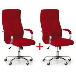 Krzesło biurowe lugo tex 1+1 gratis, czerwony marki B2b partner