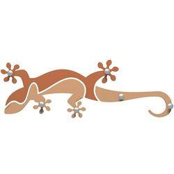 Calleadesign Wieszak ścienny gecko  jasnobrzoskwiniowy