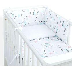 3-el dwustronna pościel dla niemowląt lux do łóżeczka 60x120 koliberki / pieguski szare marki Mamo-tato
