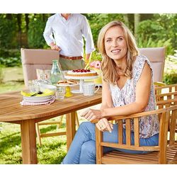 Tekowe krzesło ogrodowe - produkt z kategorii- Krzesła ogrodowe