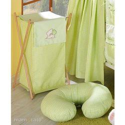 kosz na bieliznę miś z serduszkiem w zieleni marki Mamo-tato