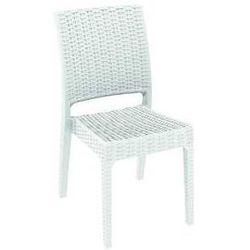 Krzesło ogrodowe na taras technorattan Florida Siesta białe - produkt z kategorii- Krzesła ogrodowe