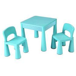 New Baby Komplet dla dzieci stolik i krzesełka 3 elem., miętowy, 689873