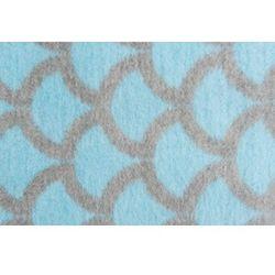 Womar Koc 100% bawełna 75X100 Półkola niebieski/szary- wysyłamy do 18:30, 5902745540740