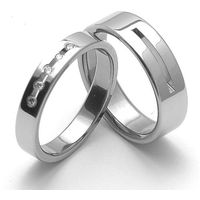 Obrączki ślubne z stali nierdzewnej ZERO Collection rz04025+rz86010 ()