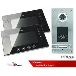 Zestaw dwurodzinny wideodomofonu z czytnikiem kart rfid s562a_m670b marki Vidos