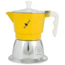 Kawiarka na indukcję Top Moka TOP 3 filiżanki - srebrno żółta