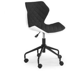 Fotel Matrix Biało - Czarny kółka do parkietów