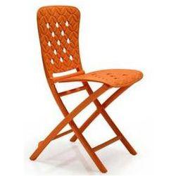 Przenośne i składane krzesło ogrodowe Nardi Zic Zac Spring pomarańczowe z kategorii Krzesła ogrodowe