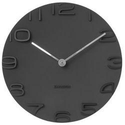 Karlsson :: zegar ścienny on the edge black