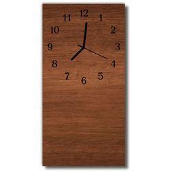 Zegar Szklany Pionowy Deski drewniane brązowy, kolor brązowy