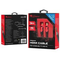 KABEL HDMI GENESIS HIGH-SPEED PREMIUM DO PS4/PS3 3M 4K V2.0 (5901969405026)