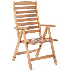 Home & garden Krzesło ogrodowe drewniane składane akacja wielopozycyjne